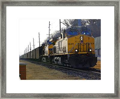 Union Pacific 7265 Framed Print by Jame Hayes