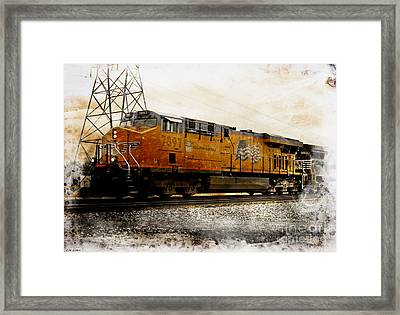 Union Pacific 7897 Engine Iv Framed Print by J M Lister