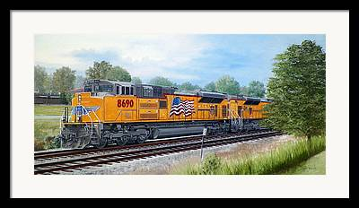 Arkansas. Union Pacific Framed Prints