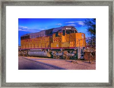 Union Pacific 9950 Framed Print