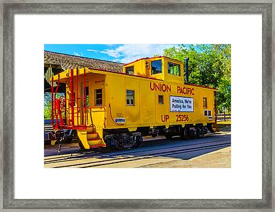 Union Pacific Caboose Framed Print by Garry Gay