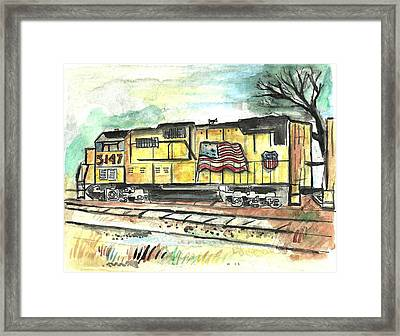 Union Pacific Engine Framed Print by Matt Gaudian