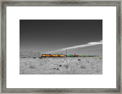 Union Pacific In Columbia Gorge Framed Print