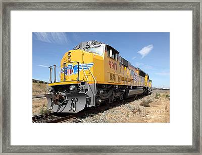 Union Pacific Locomotive Train - 5d18640 Framed Print by Wingsdomain Art and Photography