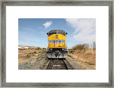 Union Pacific Locomotive Trains . 5d18644 Framed Print by Wingsdomain Art and Photography