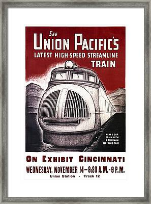 Union Pacific Record-breaking Streamline Train 1934 Framed Print