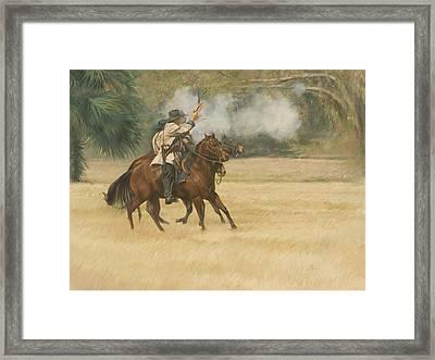 Union Riders Framed Print
