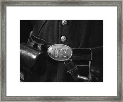 Union Soldier Framed Print by Michael L Kimble