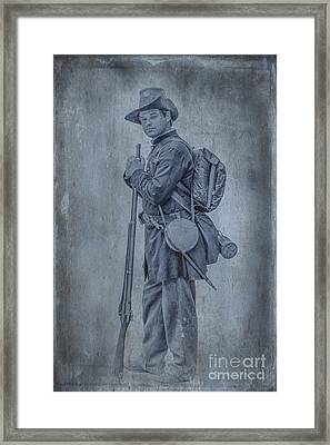 Union Soldier With Rifle Framed Print by Randy Steele