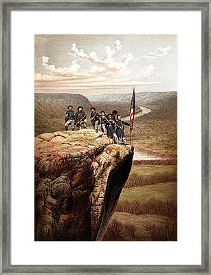 Union Soldiers On Lookout Mountain Framed Print by War Is Hell Store