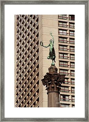 Union Square Monument Framed Print by James B Toy