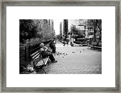Union Square Park Days Framed Print by John Rizzuto