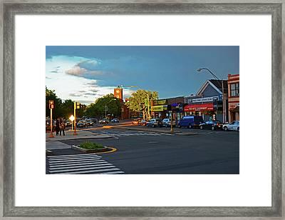 Union Square Somerville Ma Framed Print