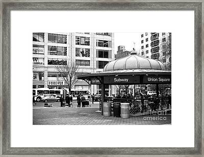 Union Square Subway Framed Print