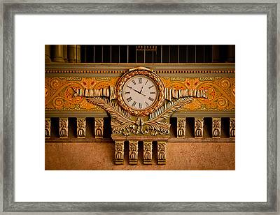 Union Station Clock Framed Print