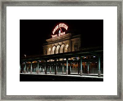 Union Station Denver Colorado Framed Print