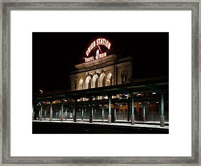 Union Station Denver Colorado Framed Print by Ken Smith