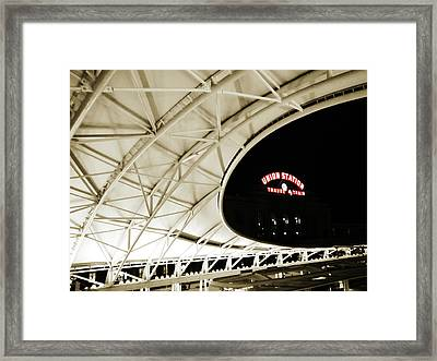 Framed Print featuring the photograph Union Station Denver by Marilyn Hunt