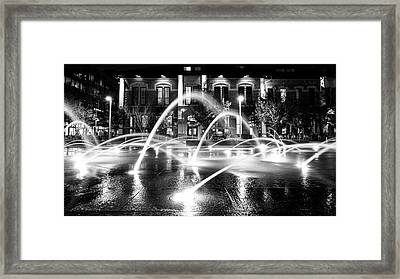 Framed Print featuring the photograph Union Station Fountains by Stephen Holst