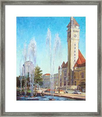 Union Station In St.louis Framed Print