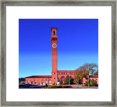 Union Station In Waterbury Connecticut Framed Print