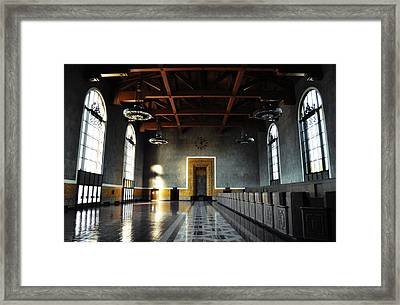 Framed Print featuring the photograph Union Station Los Angeles by Kyle Hanson