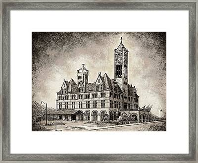 Union Station Mixed Media Framed Print