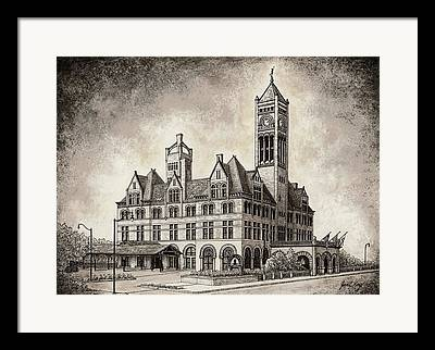 Tennessee Historic Site Mixed Media Framed Prints