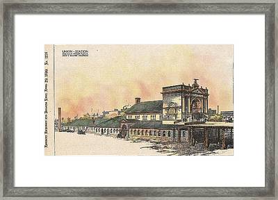 Union Station Omaha Nebraska 1899 Framed Print