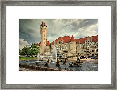 Union Station St Louis Color Dsc00422 Framed Print by Greg Kluempers