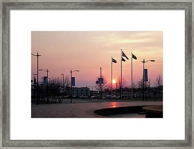 Union Station Sunset Framed Print