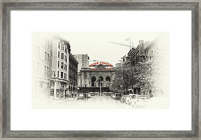 Framed Print featuring the photograph Union Station  by Susan Rissi Tregoning