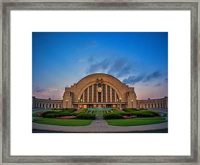 Union Terminal At Dawn Framed Print