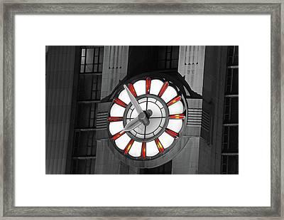 Union Terminal Clock Framed Print