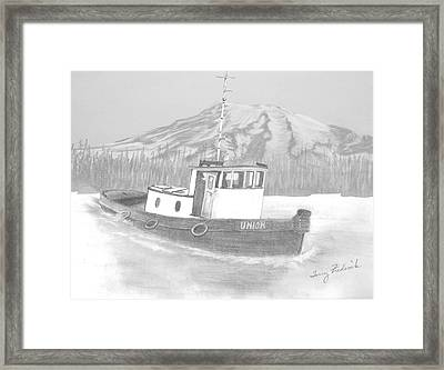 Tugboat Union Framed Print