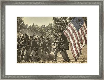 Union Troop Framed Print by Wes and Dotty Weber