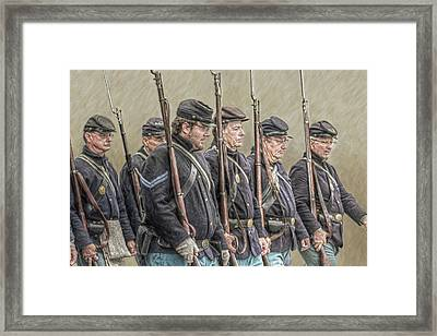 Union Veteran Soldiers Parade  Framed Print