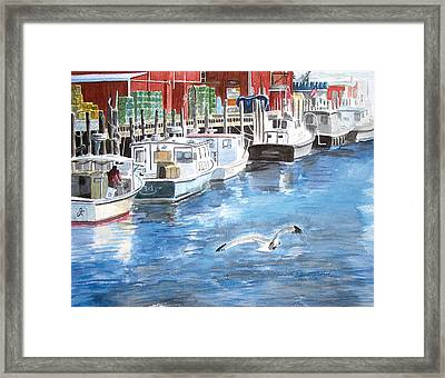 Union Wharf Framed Print