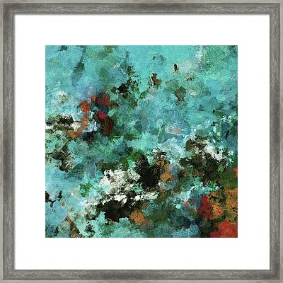 Framed Print featuring the painting Unique Abstract Art / Landscape Painting by Ayse Deniz