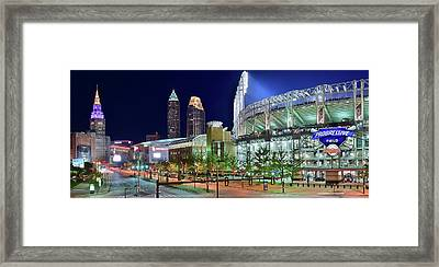 Unique City And Stadium View Framed Print by Frozen in Time Fine Art Photography