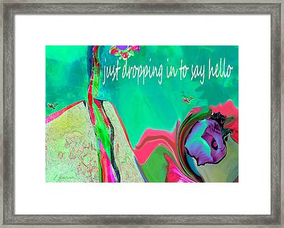 Unique Classic Greeting Framed Print