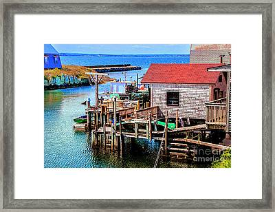 Unique Cove Framed Print