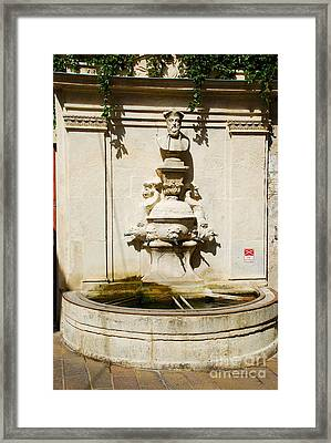 Nostradamus Fountain In Saint Remy De Provence France Framed Print by Just Eclectic