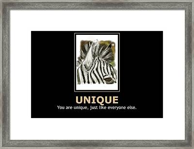 Unique Motivational Poster Framed Print