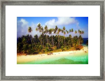 Unique Symbolic Island Art Photography Icon Zanzibar Sands Beaches Tourist Destination. Framed Print by Navin Joshi