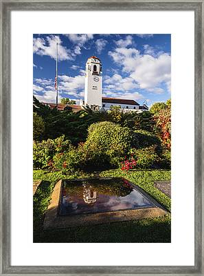 Unique View Of Boise Depot In Boise Idaho Framed Print