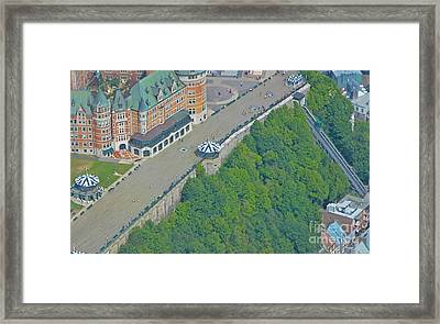 Unique View Of Funicular Framed Print by John Malone