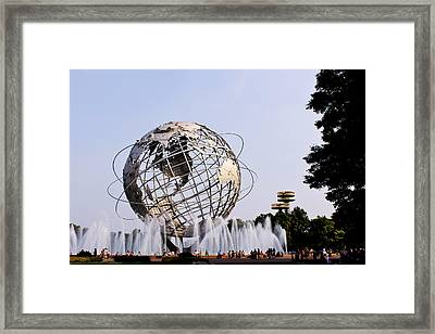 Unisphere Fountain Framed Print