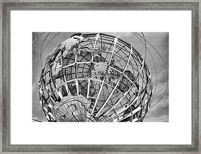 Unisphere In Black And White Framed Print