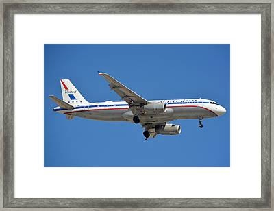 United Airlines Airbus A320 Friend Ship N475ua Sky Harbor March 24 2015 Framed Print by Brian Lockett
